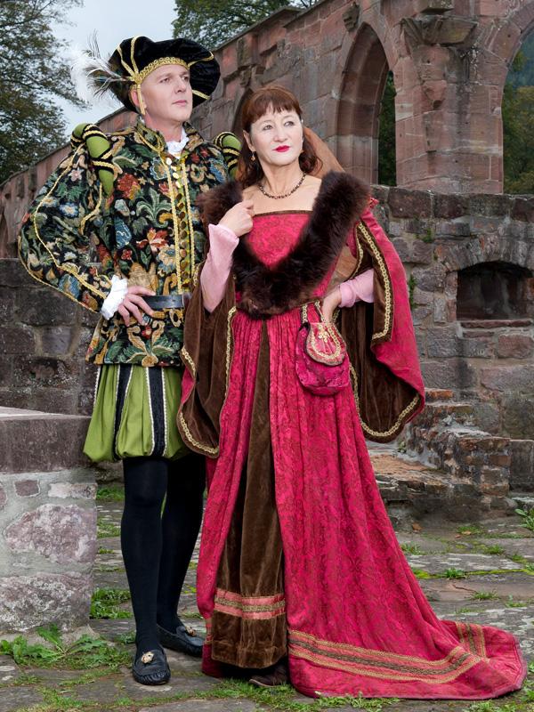 Renaissance Gewand RA 1 Riccia und Amadeo, die stolze Herrschaft renaissance mode mittelalter barock rokoko kostÃ