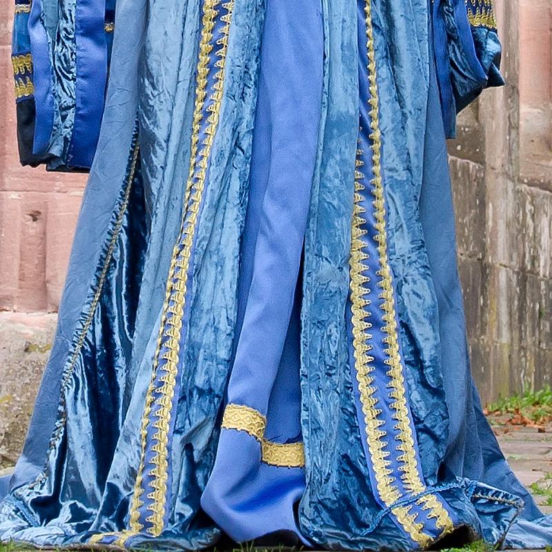 Renaissance Historisch Mann Frau BL 4 Bella und Leonardo, Renaissance Paar in Blau renaissance mode mittelalter barock rokoko kostÃ