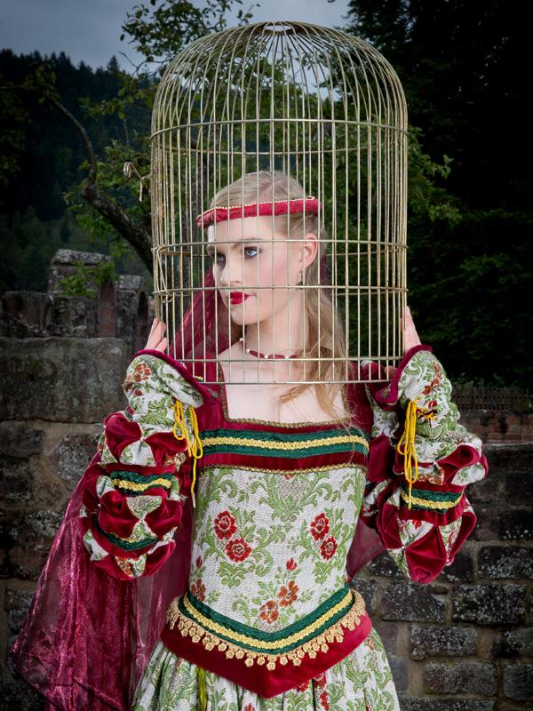 Renaissance Kleid FL 2 Flora, der schöne Vogel mit goldenem Käfig renaissance mode mittelalter barock rokoko kostÃ