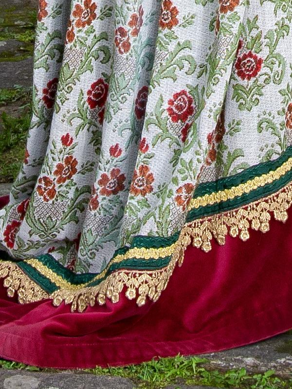 Renaissance Kleid FL 6 Flora, der schöne Vogel mit goldenem Käfig renaissance mode mittelalter barock rokoko kostÃ